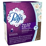 Puffs Ultra Soft & Strong Facial Tissues 4 boxes (56 count each)