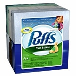 Puffs Plus Lotion Facial Tissues 6 boxes (68 count each)