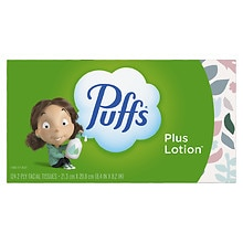 Puffs Plus Lotion Facial Tissue 1 box (124 count each)