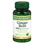 Ginger Root 550 mg Dietary Supplement Capsules