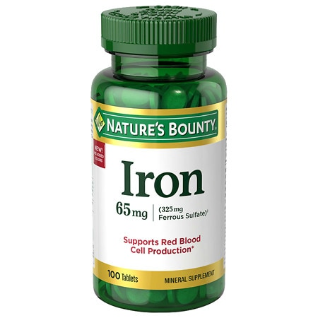 Nature's Bounty Iron, 65mg, Tablets