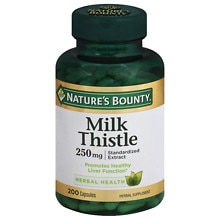 Nature's Bounty Milk Thistle 250 mg Dietary Supplement Capsules