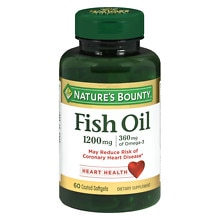 Nature's Bounty Odorless Fish Oil 1200 mg Dietary Supplement Softgels