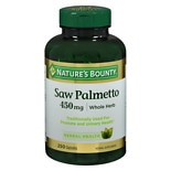 Nature's Bounty Saw Palmetto 450 mg Herbal Supplement Capsules