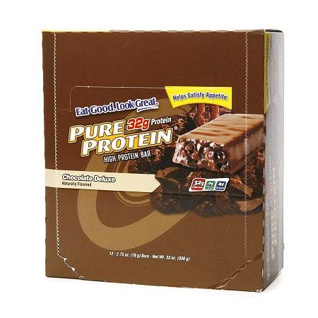 Pure Protein High Protein Meal Bar Chocolate Deluxe,12 pk