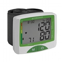 Veridian Healthcare Jumbo Screen Premium Digital Blood Pressure Wrist Monitor