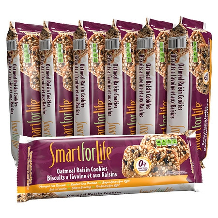 Smart for Life 7-Day Meal Replacement Diet Cookies Oatmeal Raisin