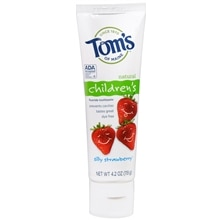 Tom's of Maine Children's Natural Fluoride Toothpaste Strawberry