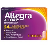 Allegra Allergy 180 mg Tablets 24 Hour