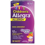 Allegra Children's Allergy Orally Disintegrating 30 mg Tablets Orange Cream