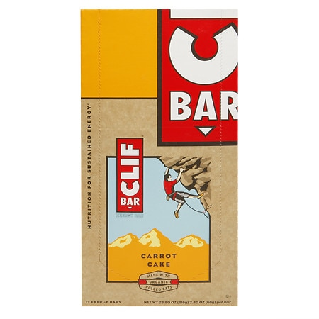 Clif Bar Energy Bars Carrot Cake, 12 pk