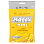 Halls Sugar Free Sugar Free Menthol Cough Suppressant/Oral Anesthetic Drops Honey-Lemon