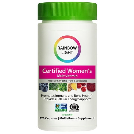 Rainbow Light Certified Organic Women's Multivitamin, Vegetarian Capsules