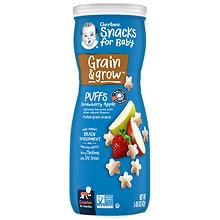 Gerber Graduates Puffs Cereal Snack Strawberry-Apple