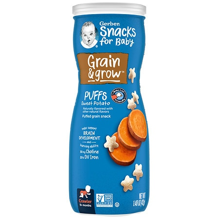 Gerber Graduates Puffs Cereal Snack Sweet Potato