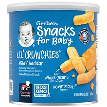 Gerber Graduates Lil' Crunchies Baked Whole Grain Corn Snack Mild Cheddar
