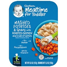 Gerber Graduates Graduates for Toddlers Lil' Entrees Meal Mashed Potatoes & Gravy with Roasted Chicken