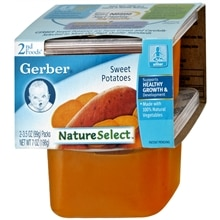 Gerber 2nd Foods Nature Select 2nd Foods Baby Food 2 Pack Sweet Potatoes,Sweet Potatoes