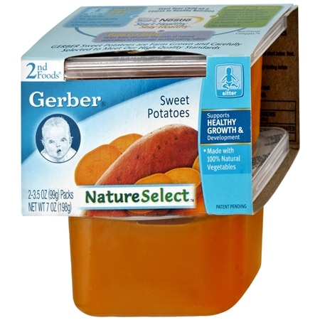 Gerber 2nd Foods Nature Select Baby Food Sweet Potatoes