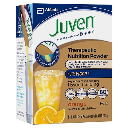 Juven Specialized Nutrition Powder Orange,8 pk