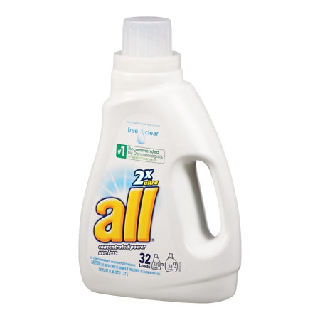 All 2X Ultra Laundry Detergent Liquid with Stainlifters Free & Clear