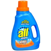 All Oxi with Stainlifters Laundry Detergent Liquid Fresh Rain
