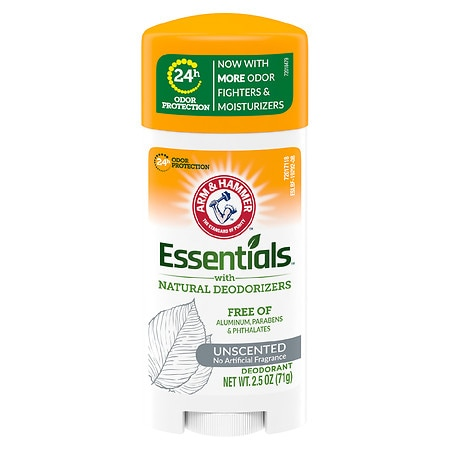 Arm & Hammer Essentials Deodorant with Natural Deodorizers Unscented