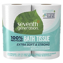 Seventh Generation Recycled Bath Tissue, Big Rolls 4 Rolls