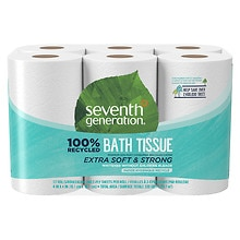 Seventh Generation Recycled Bath Tissue, Big Rolls 12 Rolls