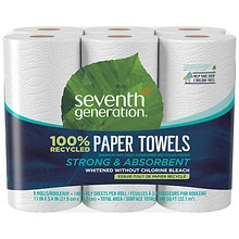 Seventh Generation Paper Towels 6 Rolls 6 rolls White