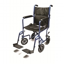 Everest & Jennings Aluminum Transport Chair 19 inch Blue