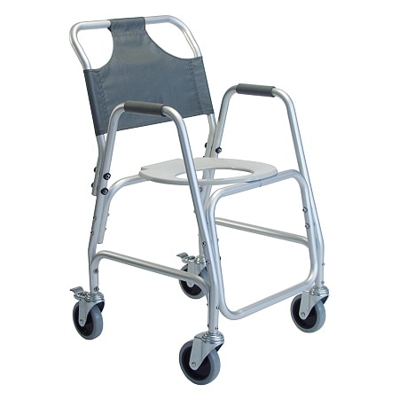 Lumex 7915A-1 Deluxe Shower Transport Chair with Footrests