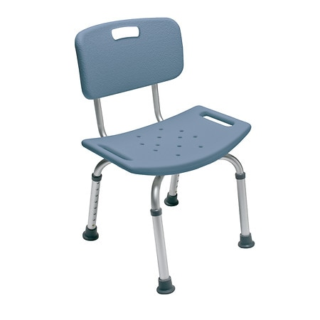 Lumex Bath Seat with Back Steel Blue