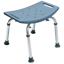 Bath Seat without Back, Steel Blue