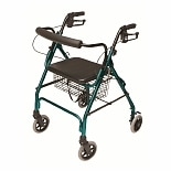Lumex Walkabout Lite 4 Wheel Rollator Green