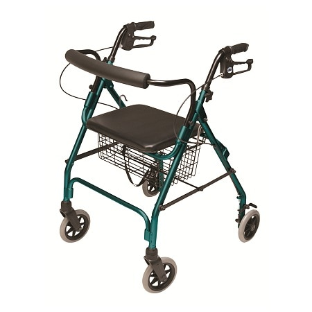 Lumex Walkabout Lite 4 Wheel Rollator Teal Green