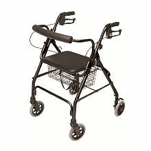 Lumex Walkabout Lite 4 Wheel Rollator Black