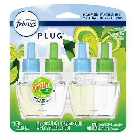 Febreze NOTICEables, Dual Scented Oils Refill, Gain Original,2 pk