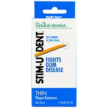 STIM-U-DENT Thin Plaque Removers 4 Pack Mint Mint Flavor