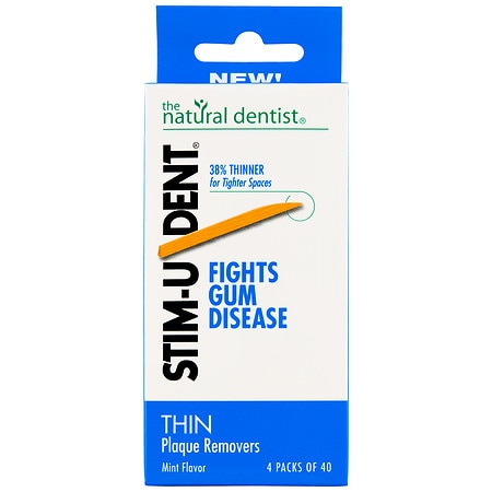 STIM-U-DENT Thin Plaque Removers 4 Pack Mint,4 pk