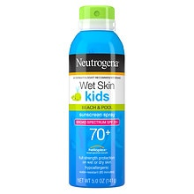 Neutrogena Wet Skin Kids Beach & Pool Sunblock Spray SPF 70+