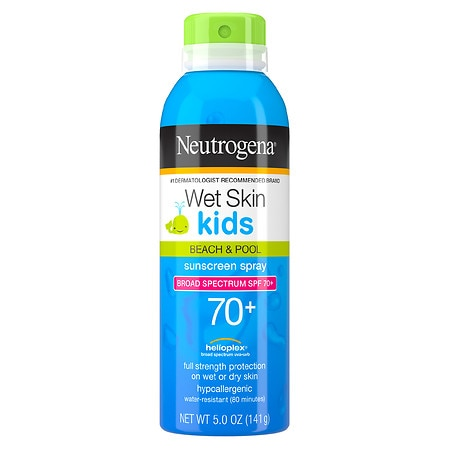 Neutrogena Wet Skin Kids Beach & Pool Sunblock Spray