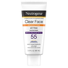 Clear Face Liquid-Lotion Sunblock, SPF 55