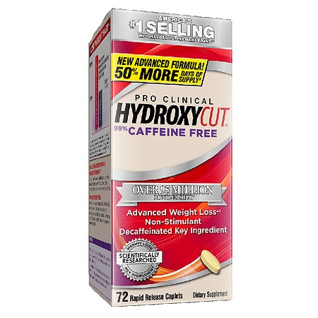 Hydroxycut Pro Clinical Caffeine-Free Weight Loss Dietary Supplement Rapid Release Caplets