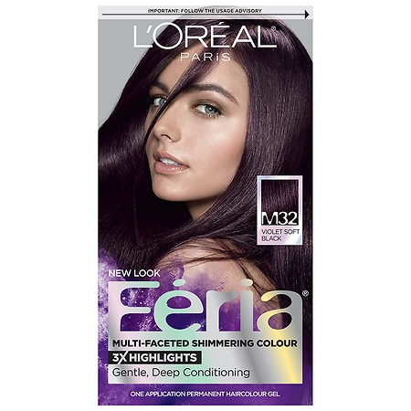 L'Oreal Paris Feria Permanent Haircolour Kit Violet Soft Black