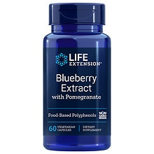 Life Extension Blueberry Extract with Pomegranate, Vegetarian Capsules