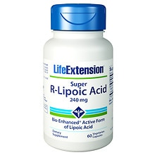 Life Extension Super R-Lipoic Acid, 240mg, Vegetarian Capsules
