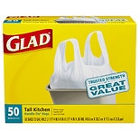 Glad Tall Kitchen Bags, Handle-Tie 13 gallon White