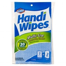 Clorox Handi Wipes Multi-Use Reusable Cloths, Double Facing