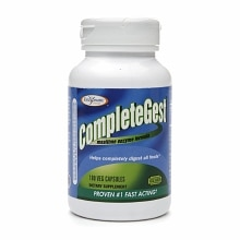 Enzymatic Therapy CompleteGest Mealtime Enzyme Formula, Veggie Capsules